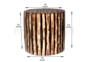 Pre- Assemble Wooden Natural Stools