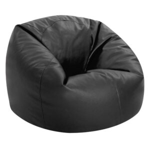 Aart Store Leatherite XXL Bean Bag Cover Without Beans (Black) Color8