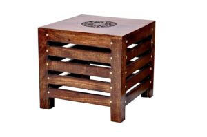 Amaze Shoppee Wooden Beautiful Handmade Stool (Brown) 3