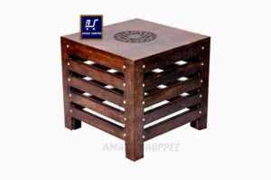 Amaze Shoppee Wooden Beautiful Handmade Stool (Brown)