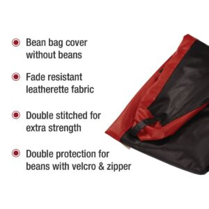 Amazon Brand - Solimo XXXL Bean Bag Cover Without Beans (Red and Black) 3