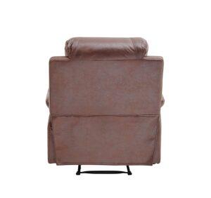 BANTIA FURNITURES PVT LTD Stratus Single Seater Faux Linen Manual Recliner for Living Room (Dark Brown) 11
