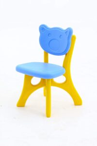 Baybee Chair Strong & Durable Plastic Baby Chair for Kids Home School Study, Portable Activity Chair for Children,Kids,Baby (Weight Handles Upto 100 Kg) (Blue)
