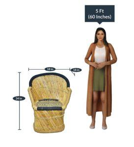 Brightway Collection Bamboo Chair, Mudda (Black)2