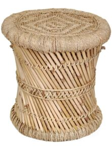 Brightway Collection Natural Mudda Bamboo Stool 2