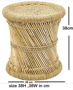 Brightway Collection Natural Mudda Bamboo Stool