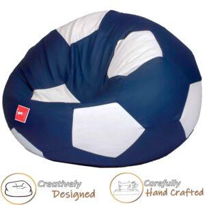 ComfyBean Soccer Bean Bag Cover (Indigo and White, XXL)2