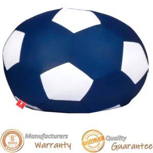 ComfyBean Soccer Bean Bag Cover (Indigo and White, XXL)4