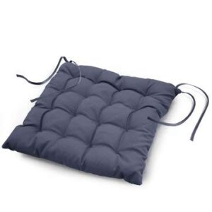 Daksh 100% Cotton Decorative Damask Fabric Comfortable Chair Pad Back Cushion with Ti