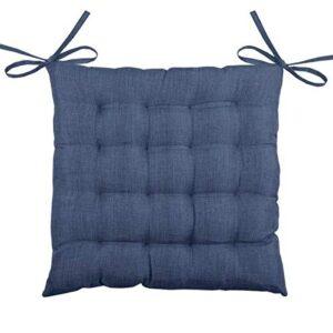 Daksh 100% Cotton Decorative Damask Fabric Comfortable Chair Pad Back Cushion with Ti3