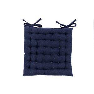 Daksh 100% Cotton Decorative Damask Fabric Comfortable Chair Pad Back Cushion with Ti32