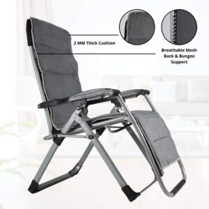 EQUAL PRO Zero Gravity Folding Single Recliner Relaxing Chair for
