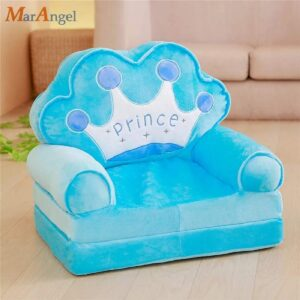 Elitehome PNP LK Trading L&T Imported Soft Toy Prince Sofa Cum Bed Shape Chair for Baby Sitting (Blue)