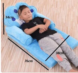 Elitehome PNP LK Trading L&T Imported Soft Toy Prince Sofa Cum Bed Shape Chair for Baby Sitting (Blue)2