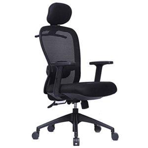 Esta ZX High Back Ergonomic Chair with Headrest - Black