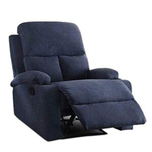 Furny Elisse One Seater Living Room Single Seater Recliner (Blue) Manual Recliner with German Recliner Mechanism 122