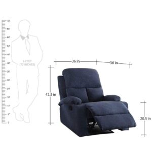 Furny Elisse One Seater Living Room Single Seater Recliner (Blue) Manual Recliner with German Recliner Mechanism 1223