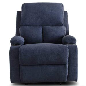 Furny Elisse One Seater Living Room Single Seater Recliner (Blue) Manual Recliner with German Recliner Mechanism 21