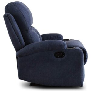 Furny Elisse One Seater Living Room Single Seater Recliner (Blue) Manual Recliner with German Recliner Mechanism 23