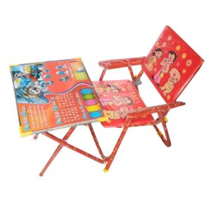 Kids Durable Wooden Folding Study Table Chair Set (2-8 Years) - Small