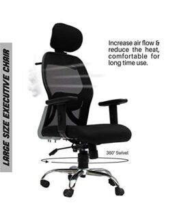 Lifecare Head Rest mesh HIGH Back Office Chair Adjustable Arms and Height Adjustment with Comfortable Back Support21