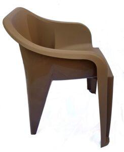 NILKAMAL EEEZY Chair in RDB Colour (Ratan Dark Beige) (1 Peice)
