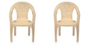 Nemi Agency Nilkamal Plastic Chair CHR 2060, MBG Pack of 2