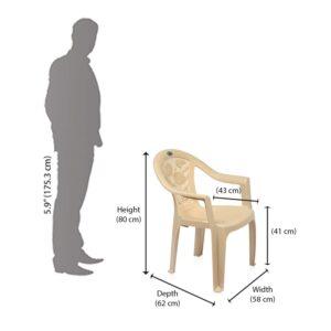 Nemi Agency Nilkamal Plastic Chair CHR 2060, MBG Pack of 2123