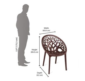 Nilkamal Crystal Chair (Weather Brown) 221