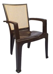 Nilkamal Plastic High Gloss Finish Chair (Brown and Biscuit) 2