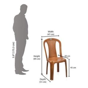 Nilkamal Plastic Luxuriant Multipurpose Chair for Maximum Relaxation and High Back Support with Anti Skid Base 2