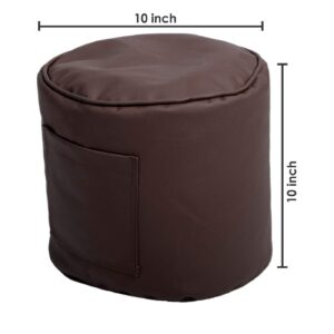 ORKA Classic XXL with Footstool Bean Bag Cover Without Beans - Brown8