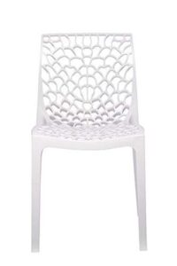 RW REST WELL Supreme Web Plastic Chair (Milky White) 1