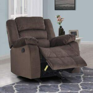Royaloak Divine Single Seater Rocking Recliner (Brown)