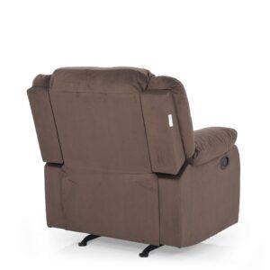 Royaloak Divine Single Seater Rocking Recliner (Brown)2