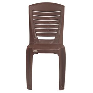 Supreme Bliss armless Plastic Chair (Set of 2)(G. Brown) 43