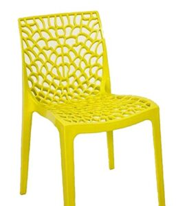 Supreme Web Chair (Set Of 4)-Yellow 2