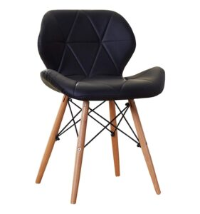 TIED RIBBONS Designer DSW Chair for Office, Bed Room,Cafe, Home, Living Room, Side Chair, Accent Chair (Black) 1