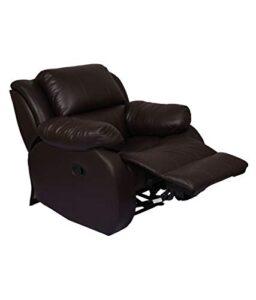 WellNap Solid Wood Single Seater Comfortable Manual Recliner (Dark Brown) 2
