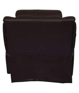 WellNap Solid Wood Single Seater Comfortable Manual Recliner (Dark Brown) 213