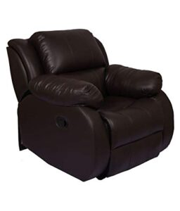 WellNap Solid Wood Single Seater Comfortable Manual Recliner (Dark Brown)