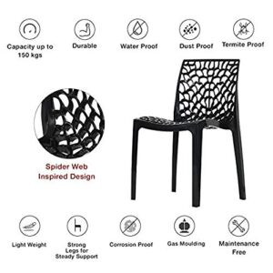 supreme Web armless Premium Plastic Chair, (Black Color, 1 pc) 13