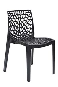 supreme Web armless Premium Plastic Chair, (Black Color, 1 pc) 2