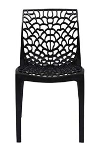 supreme Web armless Premium Plastic Chair, (Black Color, 1 pc)