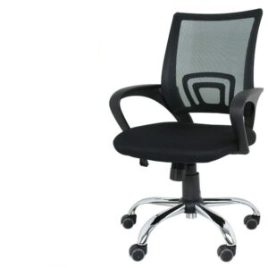 TEKONIKA Mesh Low Back Computer Staff Rotating Metal Task Cushion Chair with Wheels Adjustable Tilt Chair for Computer & Office Desk