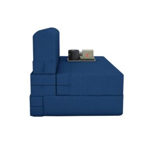 Aart Store Sofa Cum Bed Furniture Three Seater for Home & Living Room 6 X 6 (Blue) 4