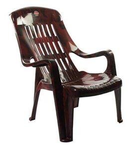Furniture Dealz Cello Comfort Relax Plastic Chair (Standard Size, Rosewood Colour)