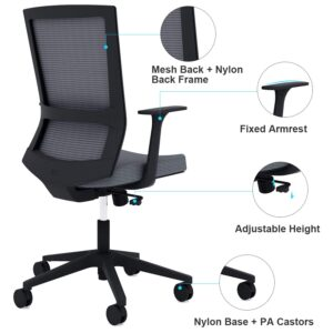 Sunon Office Chairs Ergonomic Office Chair Computer Chair with Fixed Armrest 6