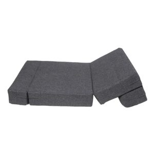 uberlyfe 2 Seater Jute Fabric Washable Cover Sofa Cum Bed Perfect for Guests (Dark Grey, 4 X 6 ft) 6