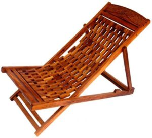 Craftatoz Folding Garden Easy Chair in Sheesham Wood